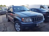 2003 Jeep Grand Cherokee 2.7 CRD Limited 4x4 Black leather, tow-bar