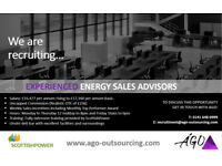 Experienced Energy Sales Advisors required offering excellent basic salary + Uncapped Commission