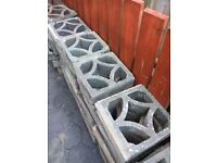 Decorative concrete block screen wall and copings for sale