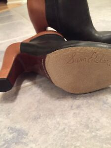 New Sam Edelman brown and black leather ankle boots