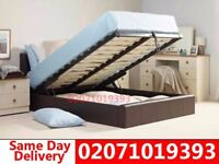 **70 % OFF** BRAND NEW KING SIZE SINGLE DOUBLE LEATHER STORAGE Bed With Mattress New Lebanon