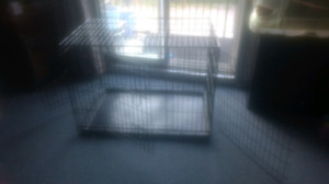 Pet lodge dog crate for sale.