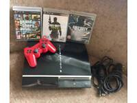 PlayStation 3 80GB plus controller & 3 games