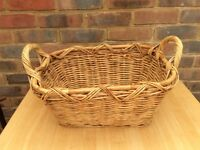 Large Ratten Wicker Basket