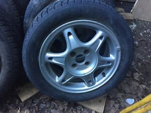 2 sets of tires and rims for sale