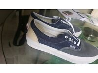 VANS MEN'S ERA DENIM MIX TRAINERS - DRESS BLUE/TRUE WHITE