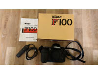 Nikon F100 35mm film SLR semi-pro camera body.