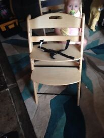 Wooden high chair x2 available rrp £50