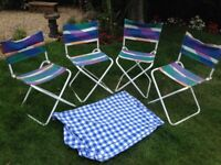 4 fold down Camping Stools/Chairs