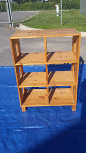 Cubby Shelf - Natural Wood and 4-Shelf Pantry
