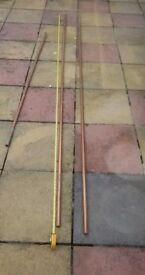 2x 3m 22mm Copper Pipe & 1.82m 22mm Copper Pipe