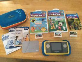 MobiGo handheld & 3 games