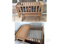 Cot and Gliding crib with mattress excellent condition
