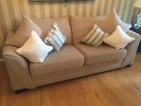 2 x DFS Three Seater Sofa - beige