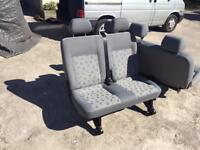 Vw t5 middle double seat shuttle kombi with floor mounts
