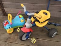 Playskool Step Start Walk 'n Ride on car plus tricycle with removable handle outdoor toys