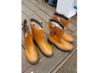 2 Pairs Size 7 workboots fleece lined steel toe