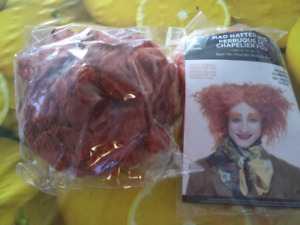 Red wigs for sale brand new
