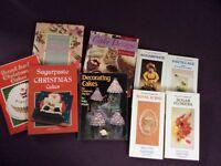 Cake decorating and design, fondant, pastillage etc Christmas, birthday books