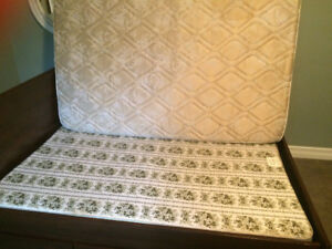 DOUBLE BED mattress, boxspring and frame for sale!