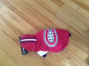 Montreal Canadians  Dog Jacket small