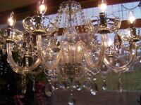 ~ABSOLUTELY BEAUTIFUL~ Pure Lead Crystal chandelier VERY LARGE