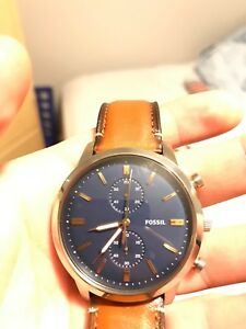Townsman Blue Fossil Watch