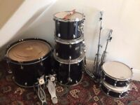Olympic premier drums 4 drums symbols and drumsticks used but great condition