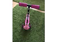 Pink ozbozz scooter