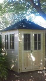 New 10x10 6 sided. Summer house garden room shed