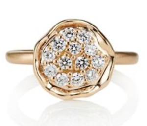Perfect Condition 14K Yellow Gold Pebble Cluster Engagement Ring