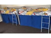 ***FOR SALE MID SLEEPER 3FT SINGLE CHILDS BED WITH BLUE TENTS X2*** RESERVED