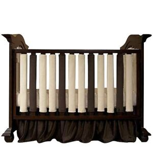 Crib Bumpers - Wonder Bumpers Chocolate and Cream color set