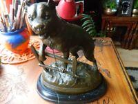 5.4 kg Charles Valton Bronze figure