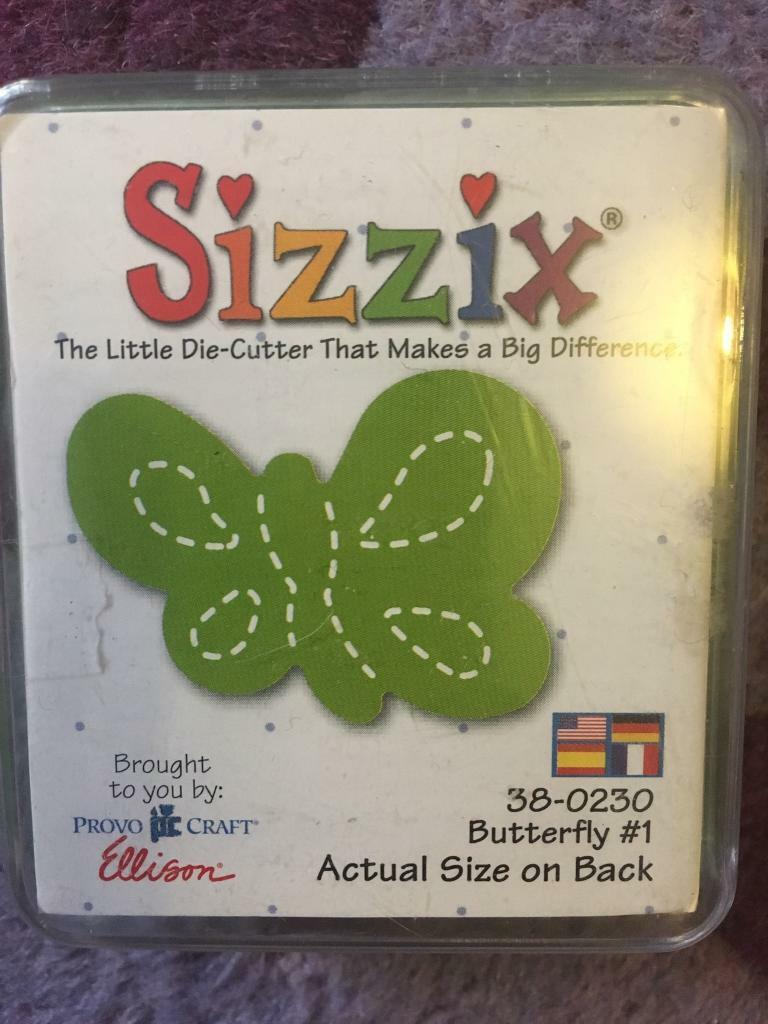Sizzix Originals small butterfly Die newin Corstorphine, EdinburghGumtree - This is one of the Originals dies by sizzix. It is small and has never been used before as you can see