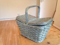 Vintage-Style Picnic Basket