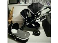 Icandy Peach Black Magic Double Buggy Pushchair Stroller I candy