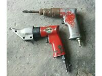 Air drill and metal snips