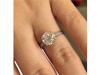Huge Diamond Ring 1.89Carat VS1 colour I