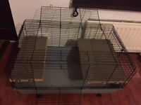 X Large deluxe rabbit cage with accessories 100cm indoor cage