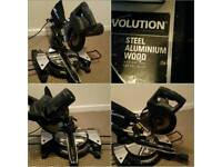 """EVOLUTION RAGE 3 LIMITED EDITION """"STEALTH"""" MITRE SAW / CHOP SAW IN REALLY GOOD CLEAN WORKING ORDER"""