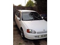 1998 White Toyota Starlet EP91 na 1332cc, MOT till 23rd Nov 17, Brand new spare parts included