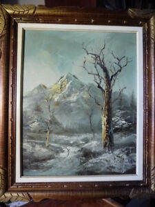 Decorative Winter Scene, Original, 'Cold Mountain Trail', Signed