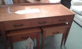 YEW DESK / DRESSING TABLE GOOD CONDITION £45.00