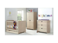 Mamas & Papas Rocco 4 Piece Nursery Furniture Set-Light Oak