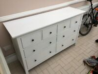 Shabby chic large chest of drawers