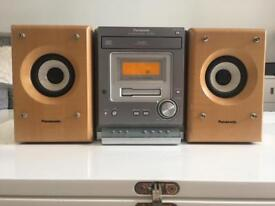 Panasonic SA-PM107 AM/FM Stereo CD and Cassette System