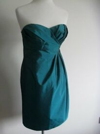 DEBUT Green Evening Party Prom Wedding Dress Ball Gown Detachable Straps 10UK NEW RRP £80