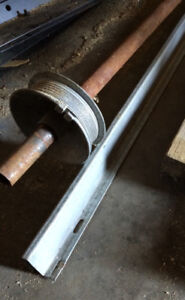 Spring, shaft and pullies for 16' garage door