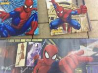 Spiderman canvas prints and large writing desk mat